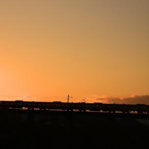 八高線の夕焼け