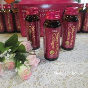 美容ドリンク☆ナノアクティブ コラーゲン(DHC)を飲んでいます。