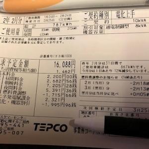 【速報】小さな平屋2020年2月分の売電・買電
