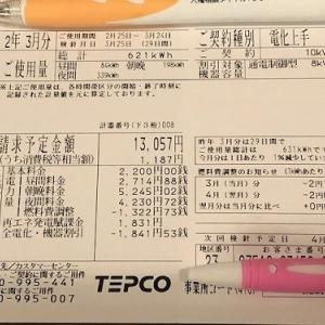【速報】小さな平屋2020年3月分の売電・買電