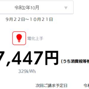 【速報】小さな平屋2020年10月分の売電・買電