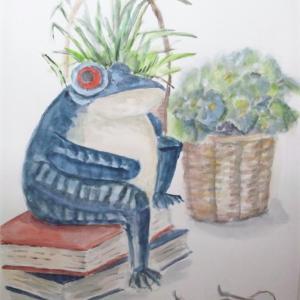 別館MAI氏作品(16) カエルさんがハイ・ポーズ