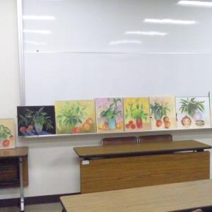 9/23のレッスン…ヤマゴボウの枝ぶりの描き方は、大きく、そして伸びやかに。