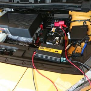 リーフで100V変換器稼働テストをしてみました