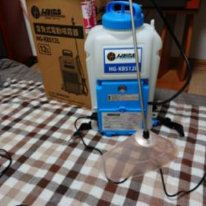 電動噴霧器の動作確認、結果はNG!?