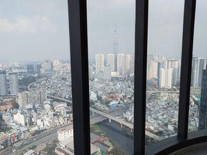 発展するホーチミン市を、上から見ると 。