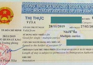 ビザの期限の訂正
