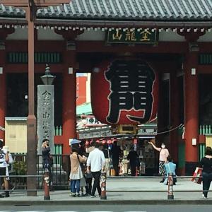 今日の浅草雷門