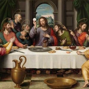 「聖餐の制定」 コリント一、11章23―29節