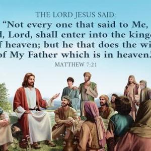 「天の父の御心を行う者」 マタイによる福音書7章21~23節