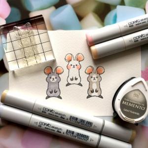 koyagiオリジナルクリアスタンプセット・Sweet Friends・ウサギさんがネズミさんに!