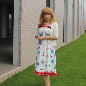 夏絵柄のワンピース(1)