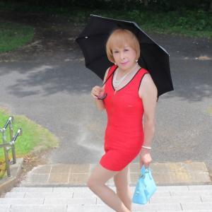 赤色ボディコンミニワンピ(1)