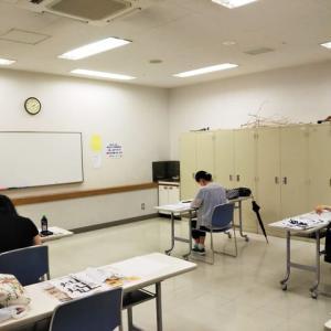 7月の墨文字教室○◯。7/25高根公団カルチャー 。