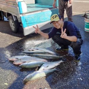 無事釣りが終わって。