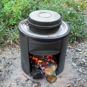 自家製の焼き芋機