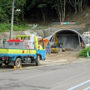 楠本~畑野浦間のトンネル