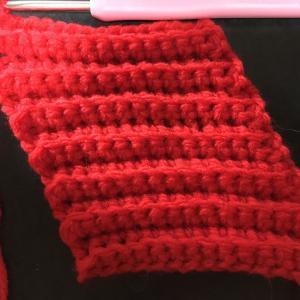 編み物教室 うね編み かぎ針編み生徒さん募集中