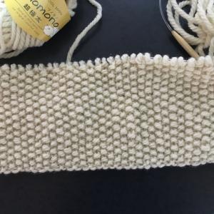 編み物教室 町屋日曜日レッスン 棒針かのこ編み