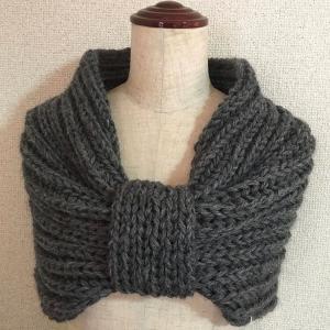 編み物教室 棒針編み リボン