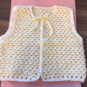 編み物教室 ベビー用ベストを手作りで