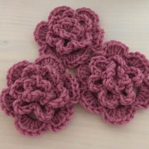 編み物教室 かぎ針編み手作りお花