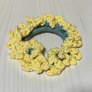編み物教室 お家で手作りを楽しみましょう 向日葵シュシュ