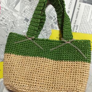 編み物教室 エコ・アンダリア 細編み夏のバック
