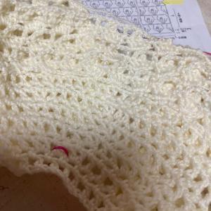 編み物教室 ベビー用糸でかぎ針編み丸ヨーク