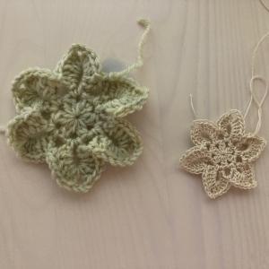 編み物教室 レース糸と毛糸でモチーフ編み