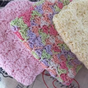 編み物教室 コットン糸で松編み柄のマスクを編みましょう