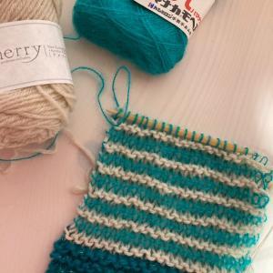 編み物教室 余り糸でガーター編みマフラー