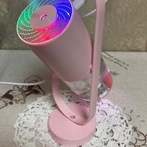 編み物教室 卓上の加湿器 乾燥注意報
