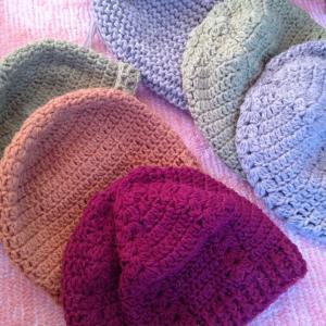 編み物教室 かぎ針編み、棒針編みでニット帽を編みましょう