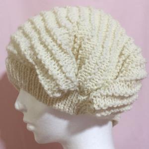 編み物教室 棒針でガーター編みを真っ直ぐ帽子