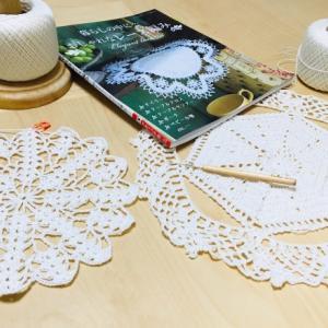 編み物教室 レースの糸を参考にレース編み作品