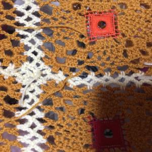 編み物教室 モチーフの糸始末コツコツ