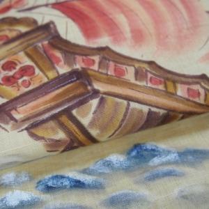 手描きの帆船の帯