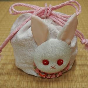 猫とウサギの可愛い巾着