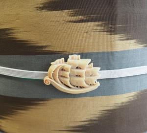 矢羽を合わせた単衣のコーディネート