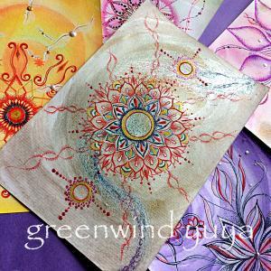 画仙紙に顔彩&曼荼羅的なyuya's Art