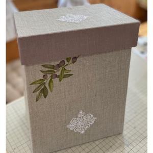 レッスン作品・アイロンを収納する箱