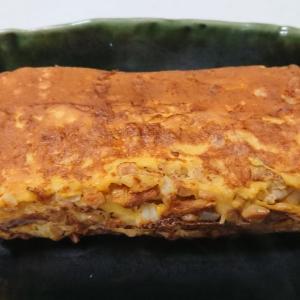 ◎今日の納豆料理55「納豆卵焼き」