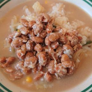 ◎今日の納豆料理66「納豆おじや」