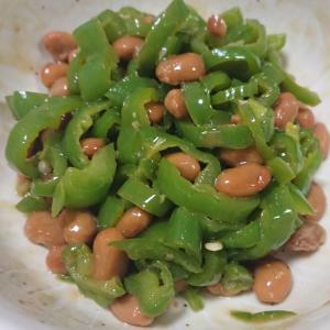 ◎今日の納豆料理67「納豆無限ピーマン」