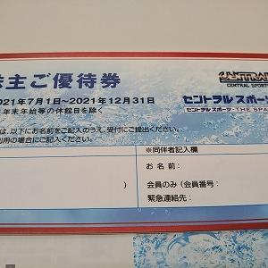 4801セントラルスポーツさんより施設利用券を頂きました。