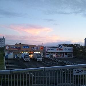 フラワータウンを早朝散歩しました。