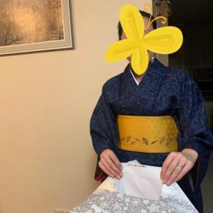 【生徒さんからのご報告】海外旅行先の滞在中に着物を着て過ごしました!