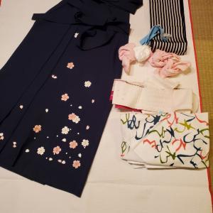 今季の卒業式の袴着付けは明日がラストです!