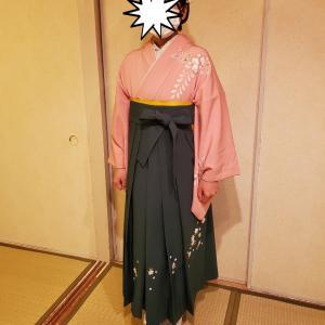 袴などのレンタルと着付けをご利用くださったお嬢様。